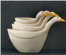 1970's Stacking Geese Measuring Cups